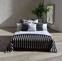 Modern Miniatures 1:12 Dollshouse Bed Linen Hamptons Black &