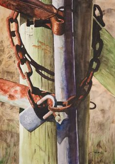 Rusty Fence Gate by Christopher Reid - USA