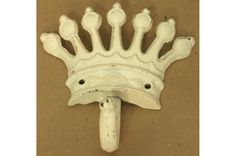 Crown Wall Hook Antique White