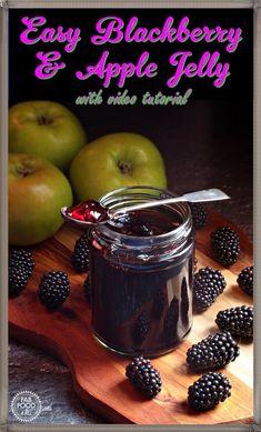 Easy Blackberry & Apple Jelly - Fab Food 4 All Pear Recipes, Jelly Recipes, Vegan Recipes Easy, Brunch Recipes, Summer Recipes, Breakfast Recipes, Dessert Recipes, Blackberry Recipes, Budget Recipes