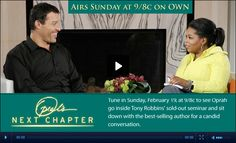 Tony Robbins , like Oprah, exemplifies how you can take a dysfunctional childhood and use it to transform the lives of millions of people.