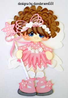 listed on ebay...danderson651 Girl, Fairy, Pixie, Pink, Wand, Paper Piecing, PreMade, Album, Borders facebook - danderson651 paperdesignz.com