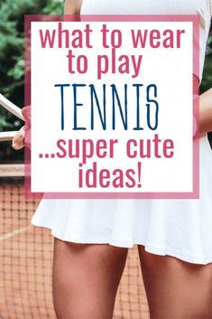Are you wondering what to wear to play tennis? Find out what proper tennis attire is whether you are playing tennis or just a spectator. Super cute outfit ideas that are affordable. Tennis Wear, Tennis Dress, Tennis Clothes, Play Tennis, Tennis Outfits, Nike Clothes, Tennis Tops, Tennis Match, Womens Tennis Skirts