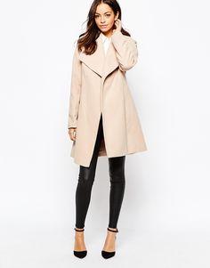 Изображение 4 из Пальто с запахом и поясом New Look