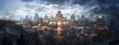 city by nan wang   Illustration   2D   CGSociety