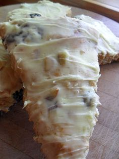 Blueberry Banana Sourdough Scones- I added whole wheat flour. Lemon zest should also be added to the scone dough for a more intense flavor.