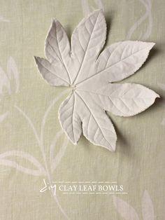 DIY - Clay Leaf Bowls-pottery class idea?