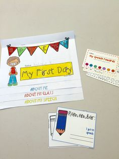 My First Day in Speech Therapy