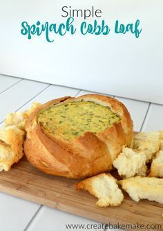 Simple Spinach Cobb Loaf Recipe - Create Bake Make