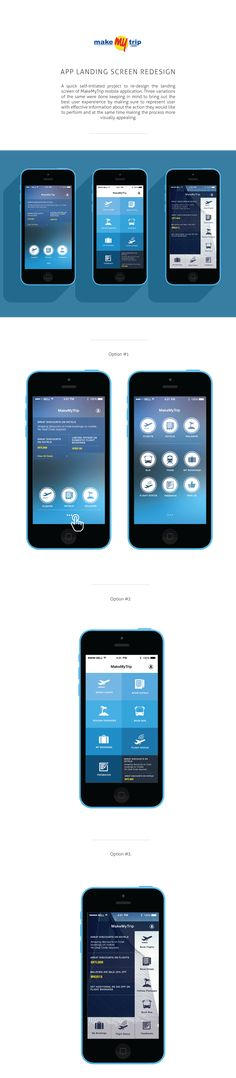 MakeMyTrip Mobile App Landing Screen Re-design on Behance