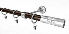 Karnisz Metalowy Prestige 25/16mm Avanti Antyk mosiądz - wenge