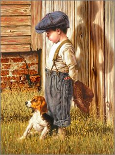 Jim Daly - Tough Love - Signed Open Edition Giclee on Canvas Complete colection of art, limited editions, prints, posters and custom framing on sale now at Prints. Paintings I Love, Beautiful Paintings, Illustration Art, Illustrations, Tough Love, Norman Rockwell, Fine Art, Vintage Pictures, Dog Art