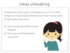 ukas utfordring Aktiv, Brain Teasers, Classroom, Teaching, Education, School, Children, Maths, Barn