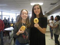 Mrs. Dunsworth's class enjoying Rick's Bakery donuts
