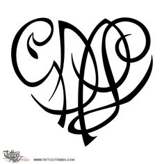 G+D+P+L heart. Family. Heartigrams symbolize love, the bond shared by the people represented by the letters that shape them.[...] More at http://www.tattootribes.com/index.php?newlang=English&idinfo=7805