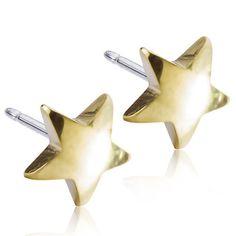 Star 8mm Pure medical Titanium - Gold Coloured e38f4feea52f0
