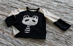 handmade shirt, drawn panda
