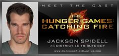 Lets make this man famous ladies :D Jackson Spidell as District 10 Tribute Boy in THE HUNGER GAMES: CATCHING FIRE, coming to theaters November 22, 2013. - http://www.catchingfirecasting.com