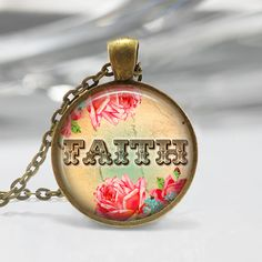 Round Pendant Tray - Faith