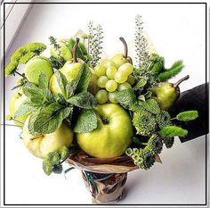 Green Wedding Decorations, Fruit Decorations, Orchid Flower Arrangements, Edible Arrangements, Vegetable Bouquet, Food Bouquet, Edible Bouquets, Fleur Design, Fruit Gifts