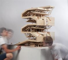 Architecture and Design Magazine for the Century. Architecture Pliage, Folding Architecture, Architecture Cool, Contemporary Architecture, Architecture Diagrams, Commercial Architecture, Architecture Student, Ecole Design, Arch Model