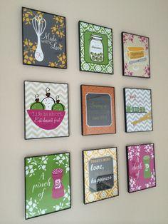 Funny Kitchen Art Set of Nine Art Prints