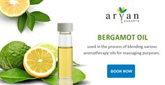 Bergamot oil is commonly used in the process of blending various aromatherapy oils for massaging purposes. It is also an effective medicine for coughs and colds and also used for treating digestive system related problems and hiccups in children.