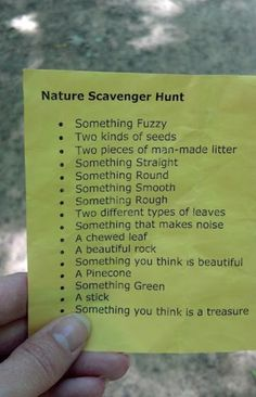 Here are some scavenger hunt ideas!