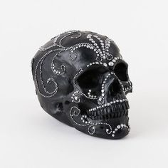 Studded Black Skull