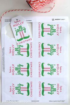 Elf Christmas Mason Jar Gift and free printable gift tag
