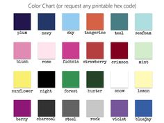 Custom colors available. Printable in any hex code color to match your style and theme.