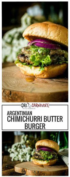 Argentinian Chimichurri Butter Burger