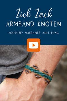 Armband Diy, Diy Kits, Knots, Diy Videos, Bracelet, Macrame Tutorial, Tutorials, Jewelry Making, Men And Women