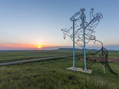 """Street art has another meaning in North Dakota, where 32 miles of otherwise unremarkable highway has become an art gallery. Driving the """"Enchanted Highway,"""" from the town of Regent to just east of Dickinson, means spotting a collection of the world's largest scrap metal sculptures, by local artist Gary Greff. The many roadside artworks date back to 1991, with more still in progress. —C.D."""