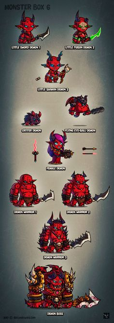 Monster Cartoon RPG Characters 6 - EatCreatures.com by Daniel Ferenčak |||| #gameart #gamedesign #cartoon #2dgameart #eatcreatures #danielferencak #gamedev #indie #character #cartooncharacter