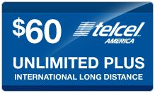 PINZOO introduces TelCel America.    With 67M subscribers and 77% market share in Mexico, TelCel America offers two Unlimited Monthly Plans:    • $45/month: Unlimited talk, text (domestic & int'l), 411 and 4G web    • $60/month: Unlimited talk, text (domestic & int'l), 411 and 4G web + Unlimited ILD (incl. cell phones to Mexico)    PINZOO has the Airtime Cards and SIM Cards. You can add airtime to your TelCel America phone at our store pinzoo.com