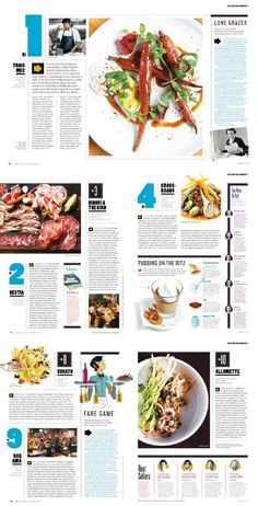 Image result for magazine best new restaurants spread