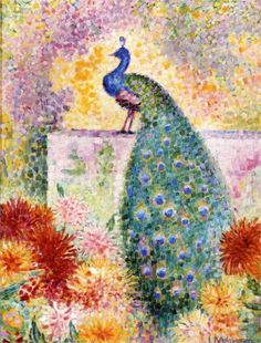 A Peacock (1906) by Jean Metzinger