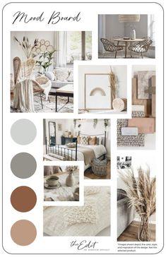 Mood Board Interior, Interior Design Boards, Interior Design Services, Moodboard Interior Design, Wallpaper Inspiration, Color Inspiration, Interior Inspiration, Cosy Bedroom, Diy Bedroom Decor