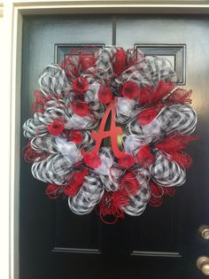 My Roll Tide deco mesh wreath