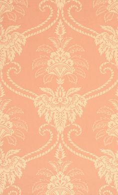Anna French Damask wallpaper in Terracotta from the Wild Flora Collection    love these colors!  everyone looks great with a pink tone backdrop!