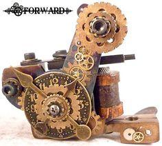 Steapunk Brass Clock Tattoo Machine for Sethmammaw | eBay