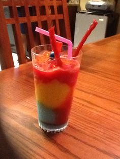 Frozen candy drink by my keisha. You can drink it plan or with vodka.