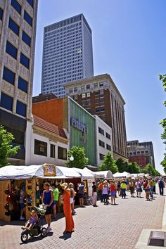 Mayfest - Tulsa.  I worked downtown and loved to stroll through on my lunch hour, but it really came alive at night