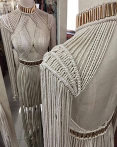 For all you open back lovers out there!! The ZEPHORA top is visually tantalising from every angle. Knotted by hand with love ❤️❤ #denissemvera #handmade #modernmacrame #macrame #knots #designstudio