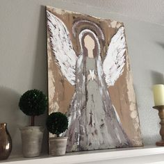 A personal favorite from my Etsy shop https://www.etsy.com/listing/479066101/angel-of-light-arcylic-painting-large