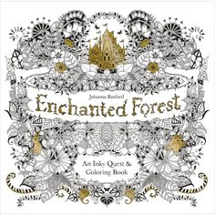 Chronicle Books Enchanted Forest Green Coloring Book