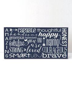 Look at this #zulilyfind! Navy & White 'You Are Amazing' Boy Wall Sign by Vinyl Crafts #zulilyfinds