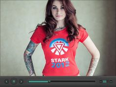 Video player UI by Eddy Nicolle