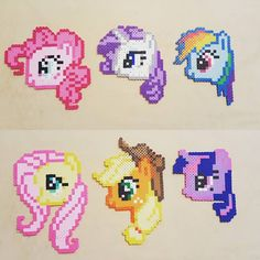My Little Pony perler beads by  ohsopathos
